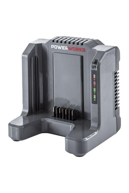 Polnilec POWERWORKS P60UC (za polnjenje 60 V baterij, kratek čas polnjenja, bateriji prijazno polnjenje)