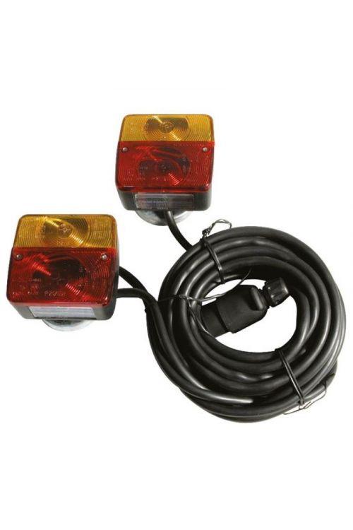 Nosilec luči prikolice (za zadnje luči, magnetni, 12V 7P, 7,5 m)