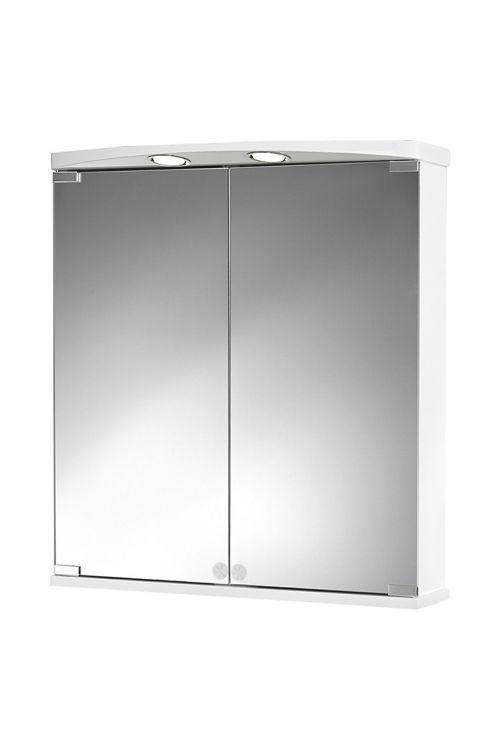 Omarica z ogledalom Jokey Ampado (60 x 66 x 21 cm, bela, LED)