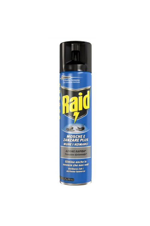 Insekticid proti muham in komarjem Raid (400 ml, v spreju, za notranjo in zunanjo uporabo, parfumiran)