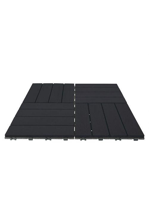 WPC klik plošča (30 x 30 cm, 10 kosov, antracitne barve)