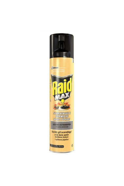Sprej proti gomazečim insektom Raid (300 ml, zatira insekte in njihova jajčeca, učinkuje do 4 tedne)
