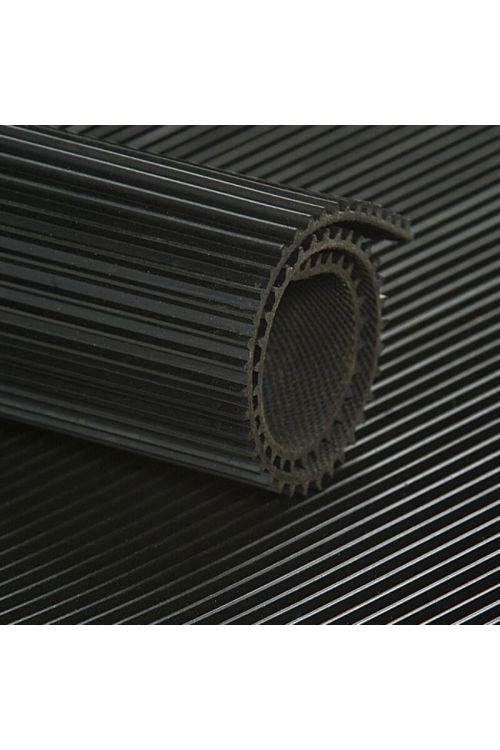 Gumijasta črtasta podloga odporna na olje B 1200mm (debeline: 3 mm, črna)