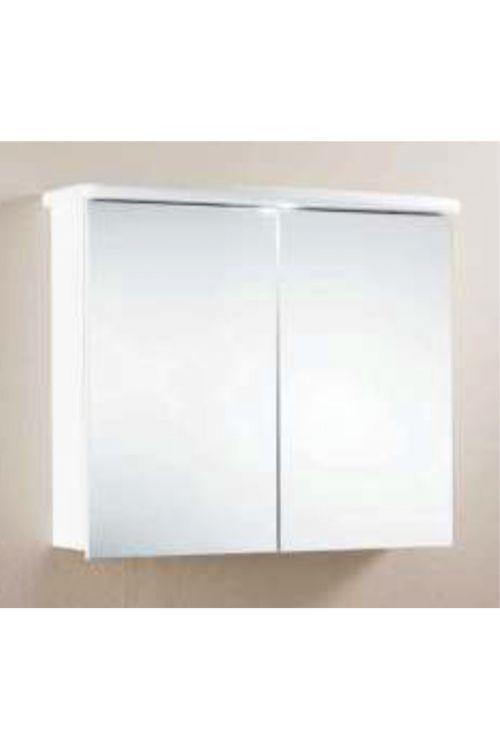 Omarica z ogledalom 570 (70 x 65 x 26 cm, bela, LED)