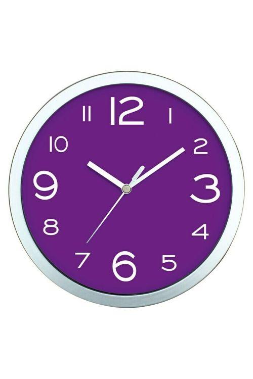 Stenska ura Basic (vijolična, premer: 20 cm)