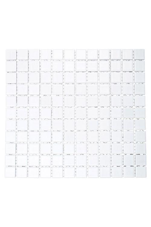 Mozaik ploščice Uni B 140 (32,6 x 30 cm, bela, mat)