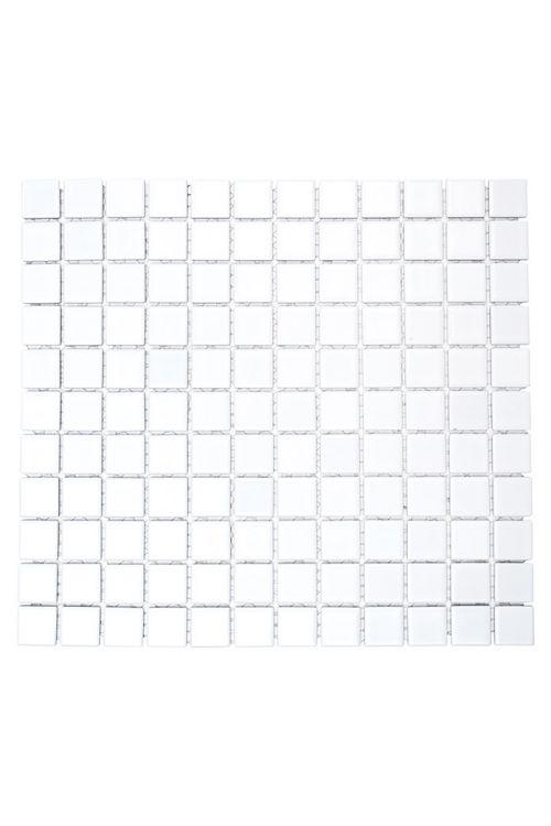 Mozaik ploščice Uni B 100 (32,6 x 30 cm, bela, sijaj)