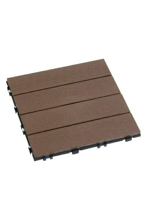 Klik plošča WPC (30 × 30 cm, kostanj, 10 kosov)