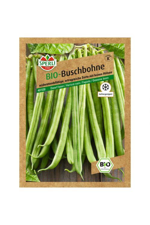 Bio seme fižol Domino Sperli (nizki, zeleni)