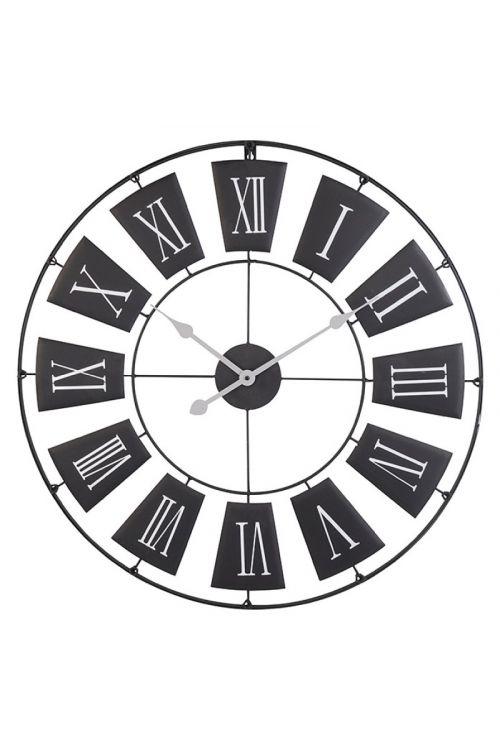 Stenska ura, črna (premer: 70 cm)