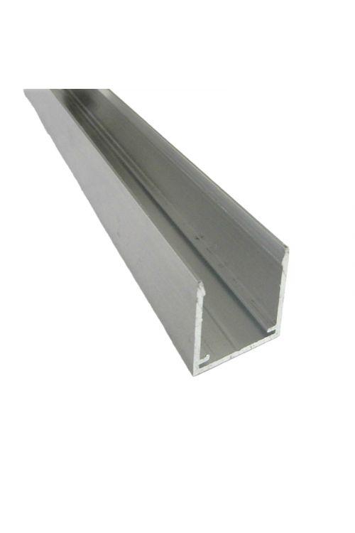 Končni profil ALU U16 (3000 x 19 mm, siva)