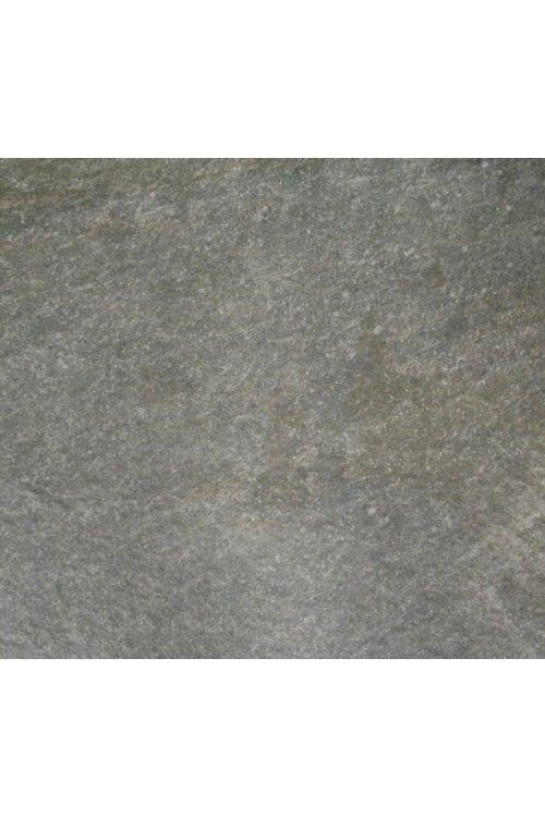 Gres ploščica Quarzite (61 x 61 x 1,6 cm, temno siva, glazirana, R11)