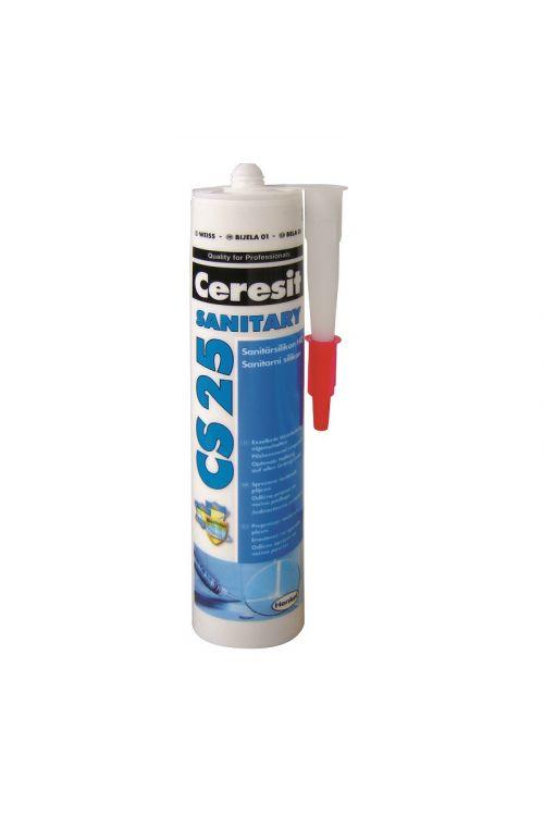 Sanitarna silikonska tesnilna masa Ceresit CS25, bela ( širine spoje: 35 mm, kartuša 300 ml)