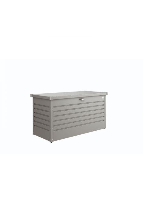 Zaboj za shranjevanje BIOHORT 'FreizeitBox 130' (metalno siva barva, 134 x 62 x 71 cm)