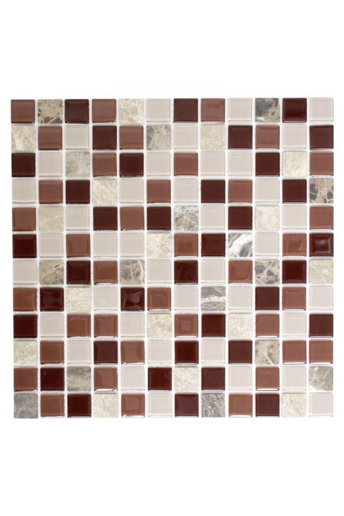 Samolepilni mozaik (30 x 30 cm, bež/rjav/marmor)
