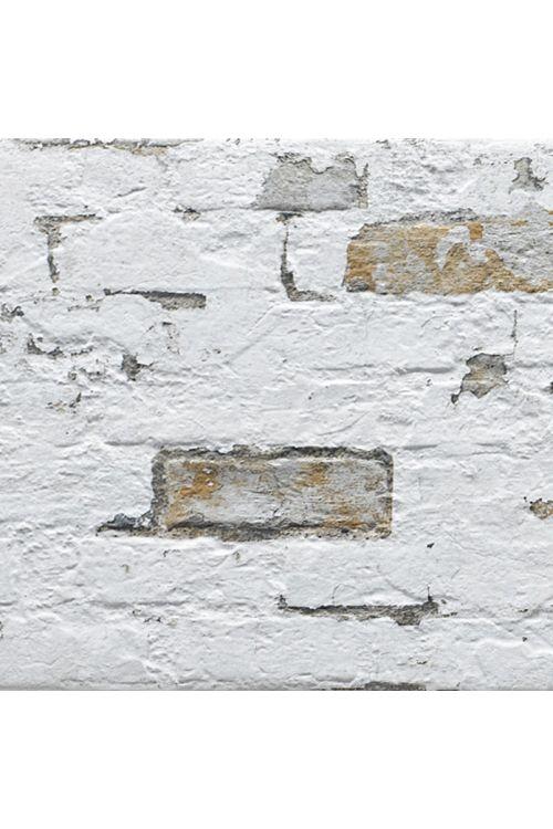 Stenska obloga Pompeya Jet (33,3 x 66,6 cm, bela, imitacija kamna)