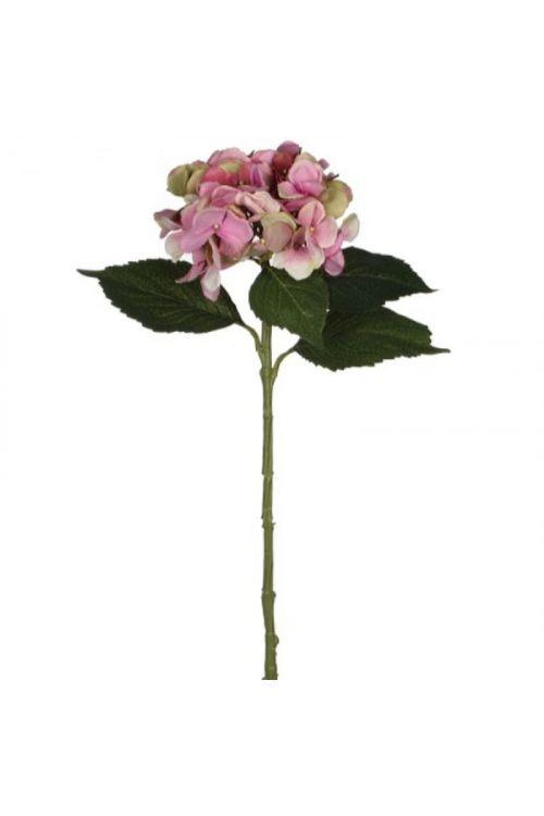 Umetna dekorativna hortenzija (višina: 51 cm, plastična, roza)