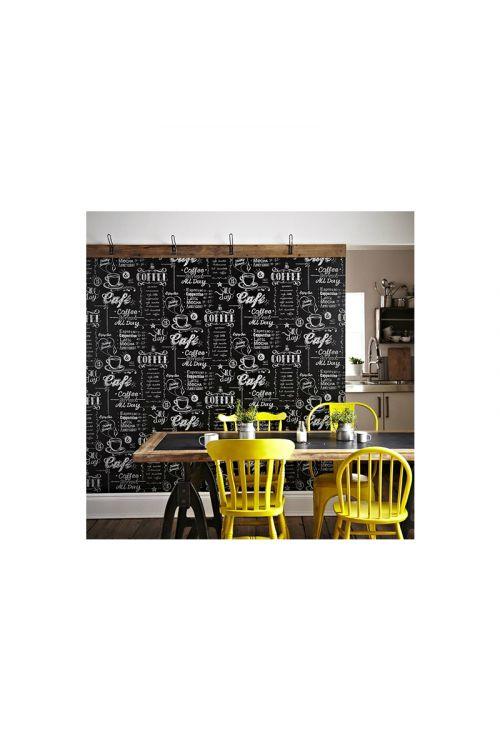 "Foto tapeta ""Coffee Shop"" (barva: črno-bela,  10 m x 0,52 m)"