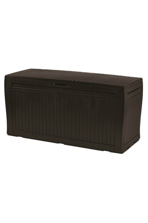Zaboj za shranjevanje blazin KETER Comfy (v 57 x š 116,7 x g 44,7 cm, 270 l, plastika, rjave barve)