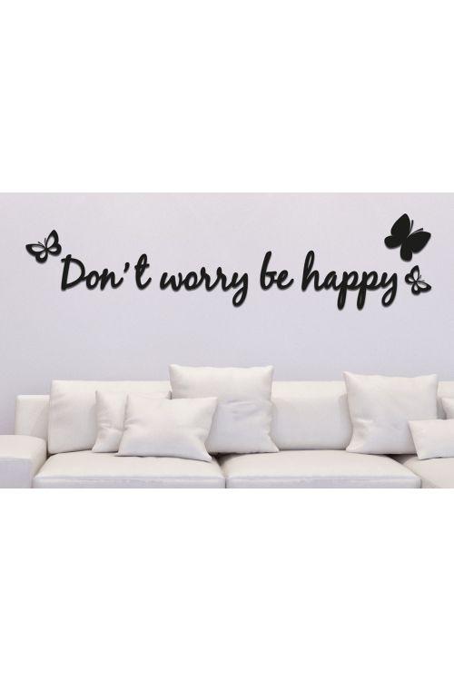 Dekorativna nalepka Don't Worry be Happy (47 x 70 cm)