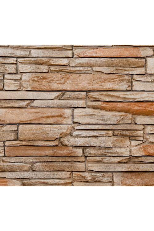 Stenska obloga Fox Brown (39 x 11 cm, rjava, imitacija kamna)