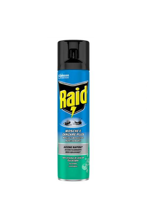 Sprej proti letečim insektom Raid Evkaliptus (400 ml, proti vsem letečim insektom, prijetnega vonja)
