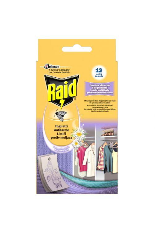 Lističi Raid proti tekstilnim moljem (12 kosov)
