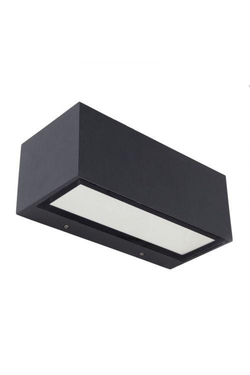 LED STENSKA SVETILKA GEMINI (20 W, 1240 lm, 4.000 K, d 22 x v 8,5 cm, antracit)