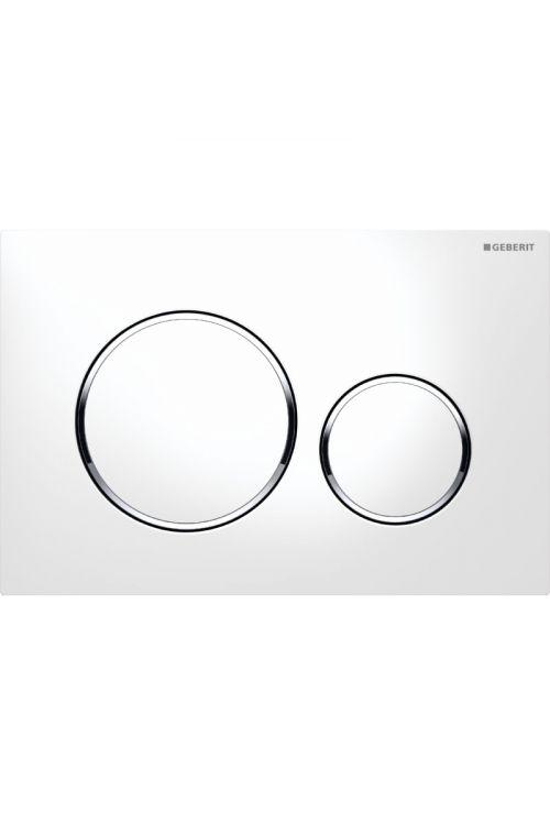 Sprožilna tipka Geberit Sigma 20 (bela, krom, bela, dvokoličinsko splakovanje)