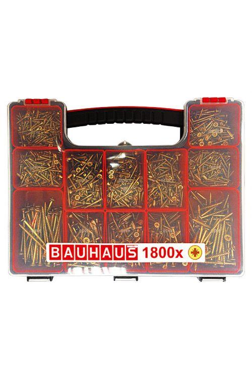 Komplet večnamenskih vijakov BAUHAUS (križna zareza pozidriv, 1.800 kosov)