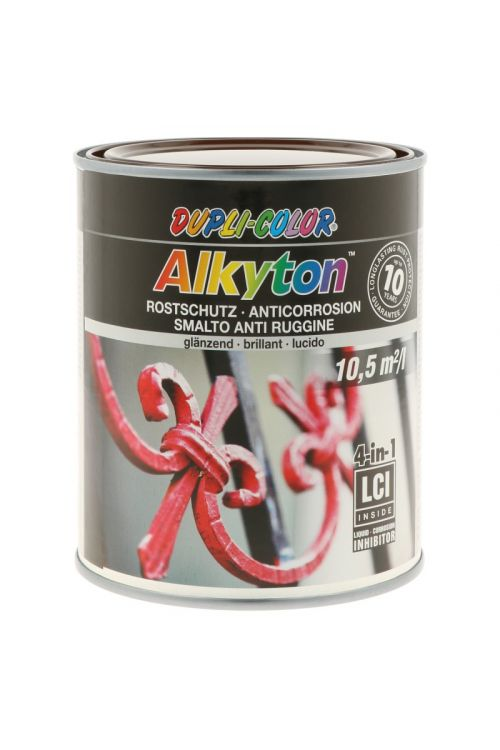 Premaz za kovino DC Alkyton RAL 8017 visok sijaj  (750 ml, na alkidno-uretanski osnovi, 4v1: osnovni premaz, zaščita proti rji, barva in tesnilo)_2