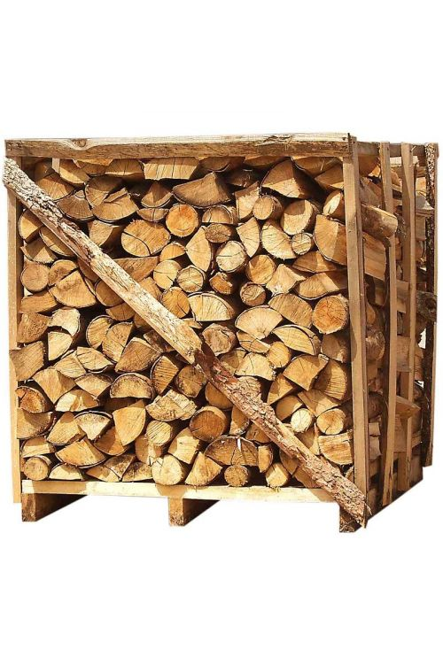 Drva za ogrevanje v paleti (100% bukev, 1 x 1 x 1 m, dolžina: 33 cm)