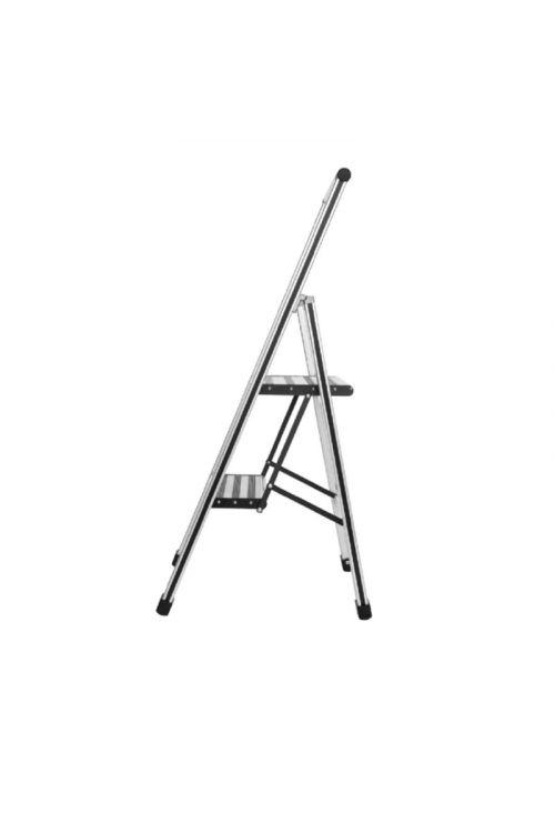 Aluminijasta gospodinjska lestev Wenko 1+1 (delovna višina: 2,30 m, transportna dolžina: 1,04m, nosilnost 150 kg)