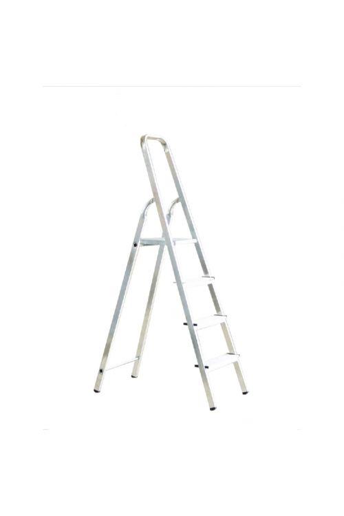 Aluminijasta gospodinjska lestev Alpos 3+1 (delovna višina: 2,66m, transportna dolžina: 1,55 m, nosilnost 150 kg)