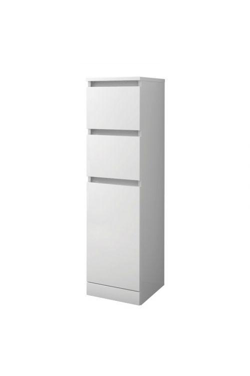 Stranska omarica Elise (30 x 33,5 x 112 cm, bela, sijaj)