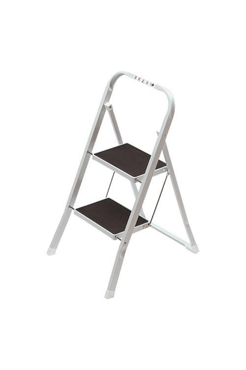 Kovinska gospodinjska preklopna lestev 1+1 (delovna višina: 2,45 m, nosilnost: 150 kg)