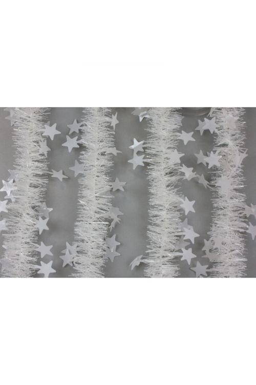 Bela girlanda z zvezdicami (2m, premer: 5,5-12 cm)