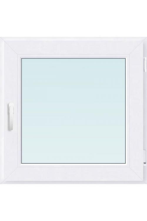 Okno Solid Elements (800 x 900 mm, PVC, belo, desno, trojna zasteklitev)