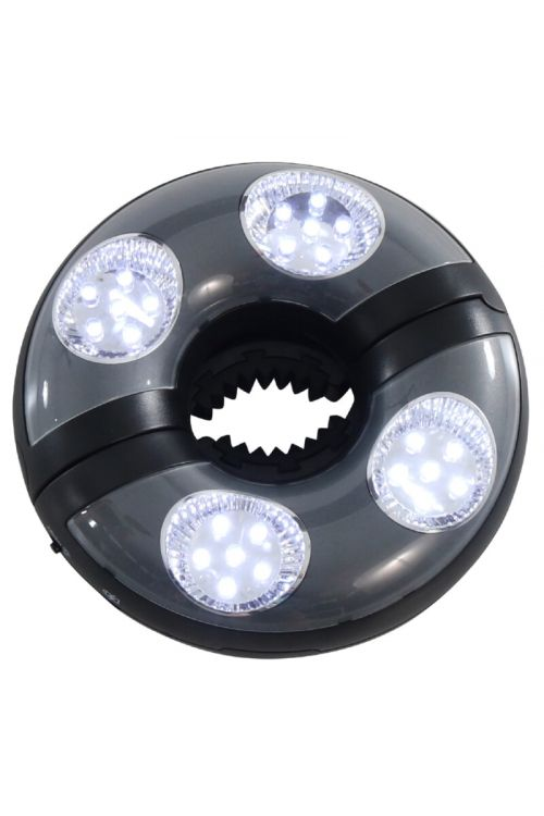 LED svetilka za senčnik  (4 x LED, Ø 170 mm, za senčnike Ø 350 cm)
