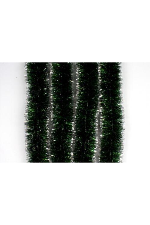 Zeleno-srebrna girlanda (2 m, premer: 7 cm)