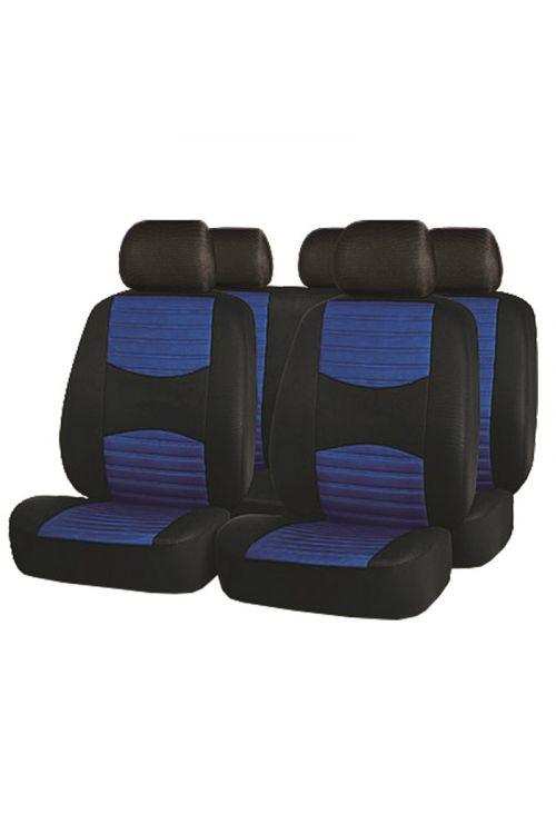 Prevlekaza avtomobilske sedeže (modra, 100% poliester)