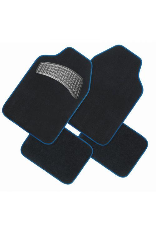 Komplet preprog za avto Finish Line (tekstilne, moder rob, 4 kosi)