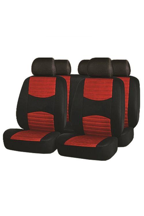 Prevleka za avtomobilske sedeže (rdeča, poliester)
