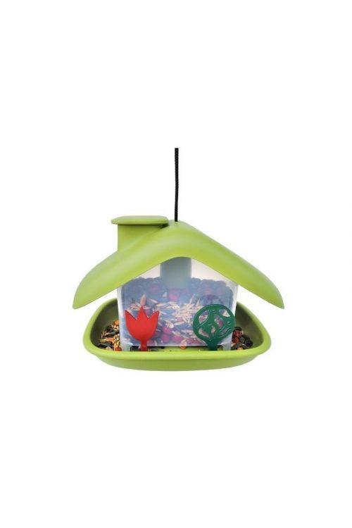 Ptičja krmilnica Domek (21 x 15 x 16,5 cm, zelena)