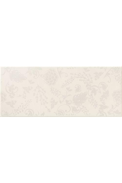 Stenska ploščica Dream White Flower (25 x 60 cm, bela, sijaj)