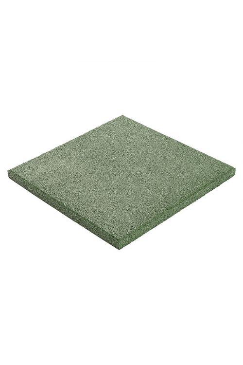 Gumijasta plošča za otroška igrala (50 x 50 x 3 cm, zelena)