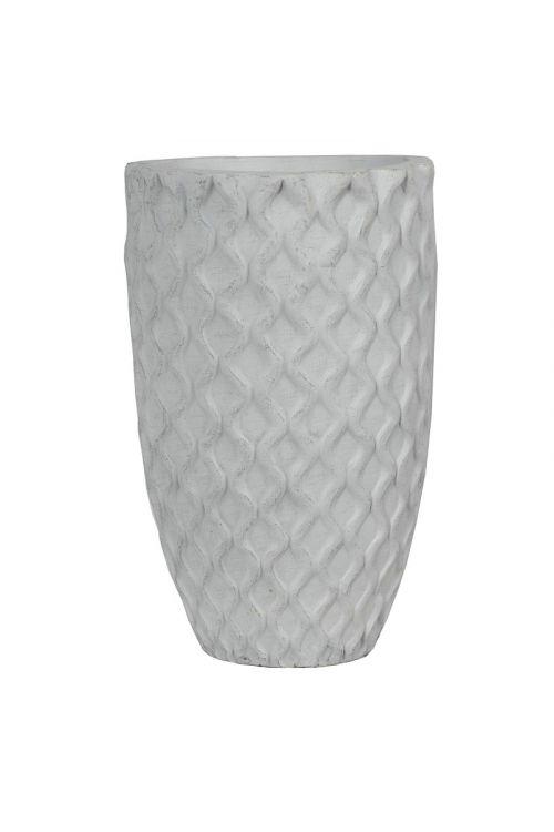 Cvetlična vaza z motivom (45 x 68 cm, siva)
