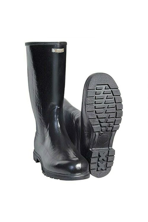 Polvisoki gumijasti škornji (velikost: 45, filc)
