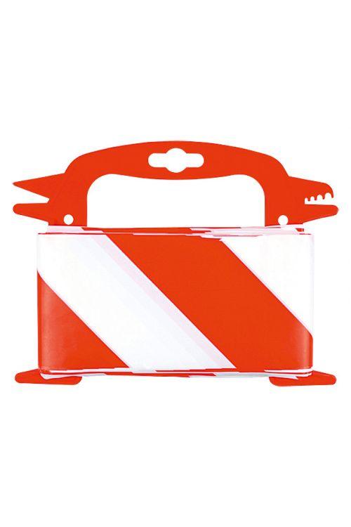 Opozorilni trak Stabilit (100 m x 8 cm, rdeč/bel)