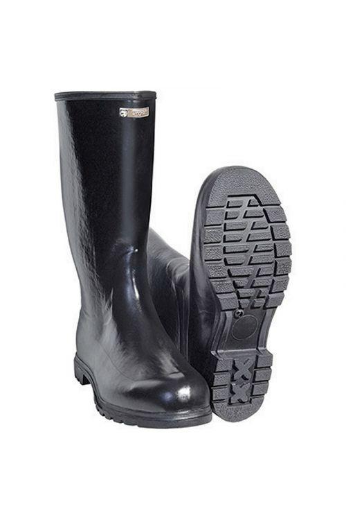 Gumijasti škornji s filcem (številka 47, črni)